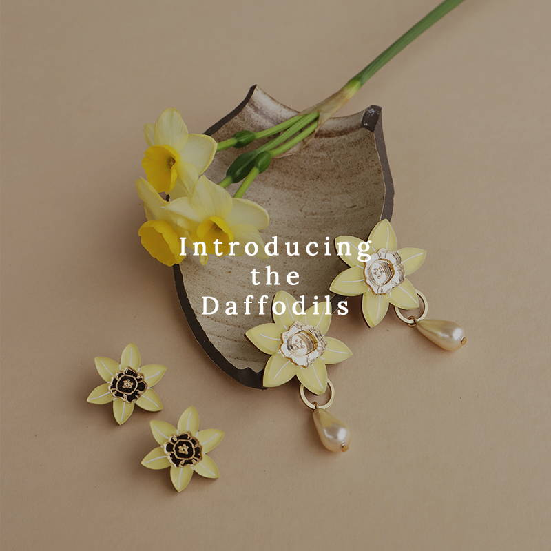 Introducing the Daffodils   Handmade Jewellery by Independent brand Wolf & Moon
