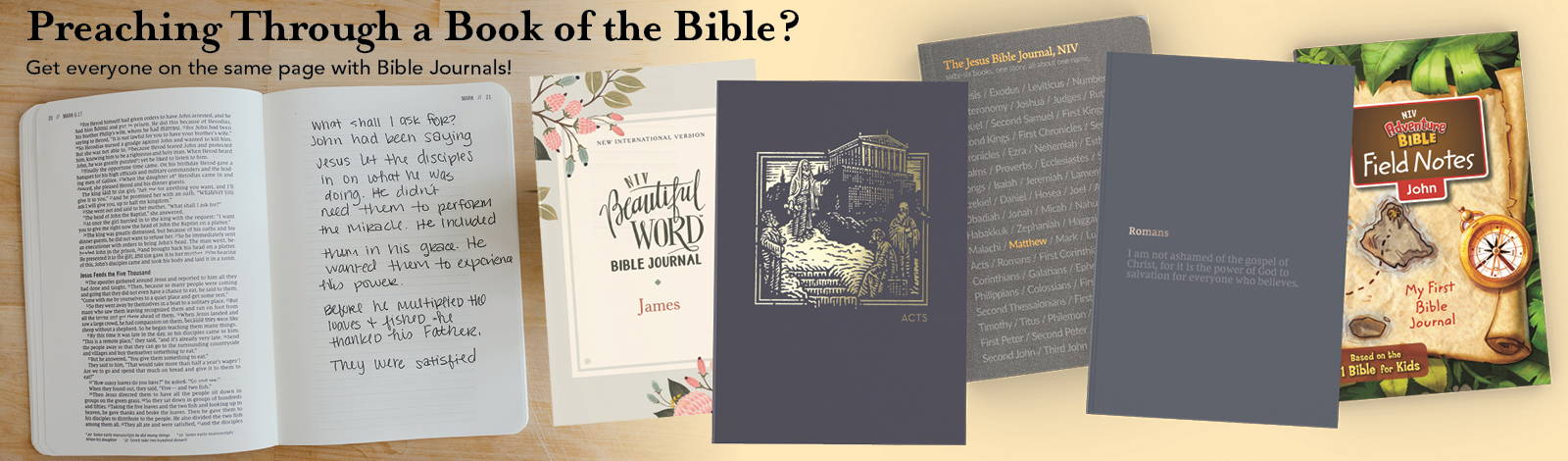 Preaching through a book of the Bible? Get everyone on the same page with Bible Journals!
