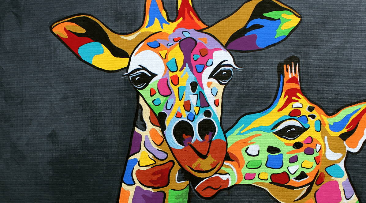 Steven Browns Multi Coloured Giraffe