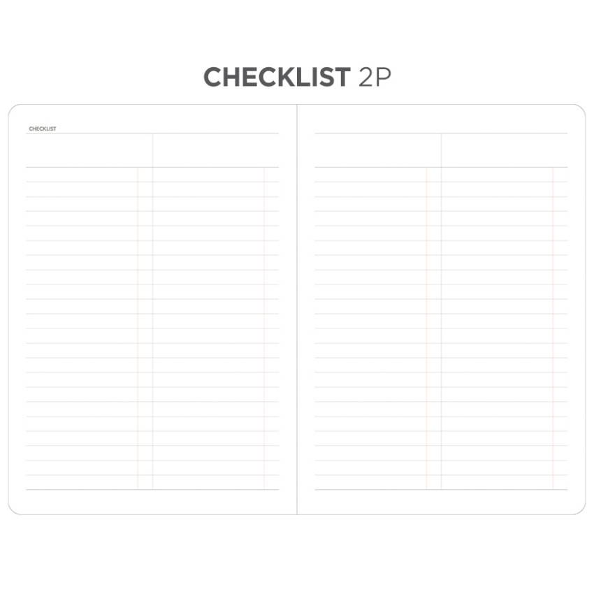 Checklist - After The Rain 2020 Dot your day weekly dated diary planner