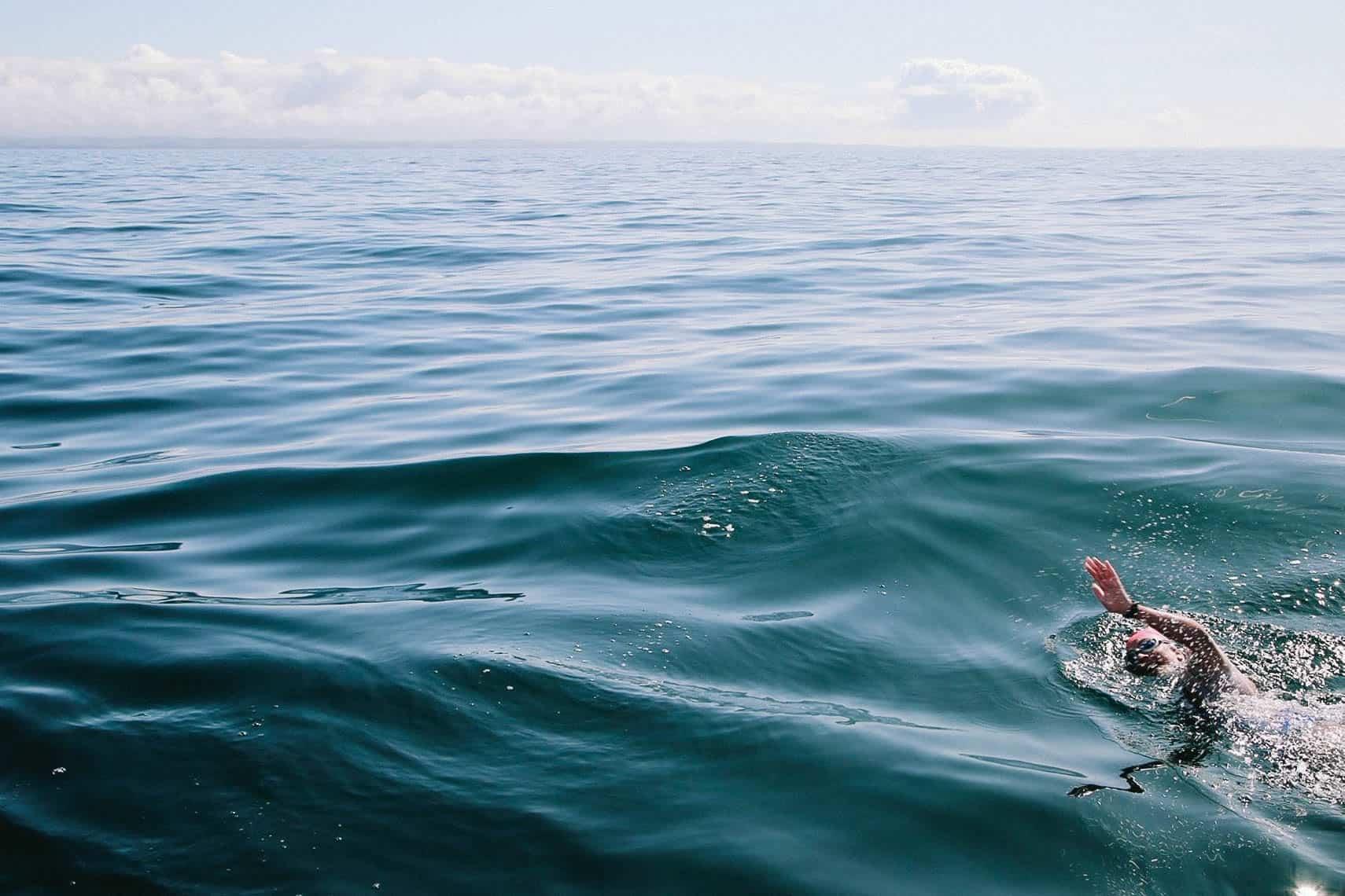 Sam Swimming North Channel Ireland to Scotland 2019