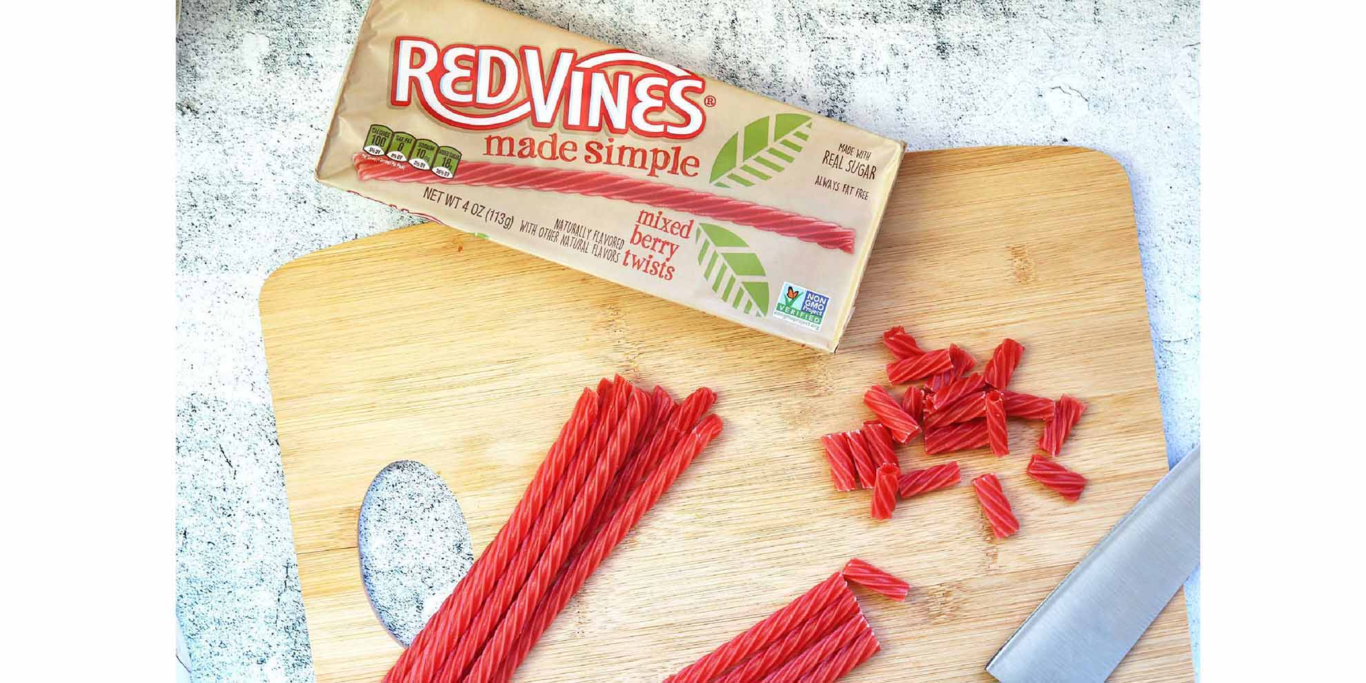 Chopped Red Vines Made Simple Berry Twists