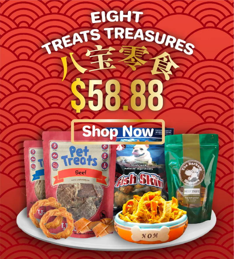 Pawpy Kisses Chinese New Year The Eight Treats Treasures Online Pet Shop Singapore Papy Kisses mobile banner.
