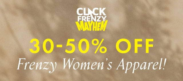 Guess Click Frenzy Women's Apparel 30% - 50% off