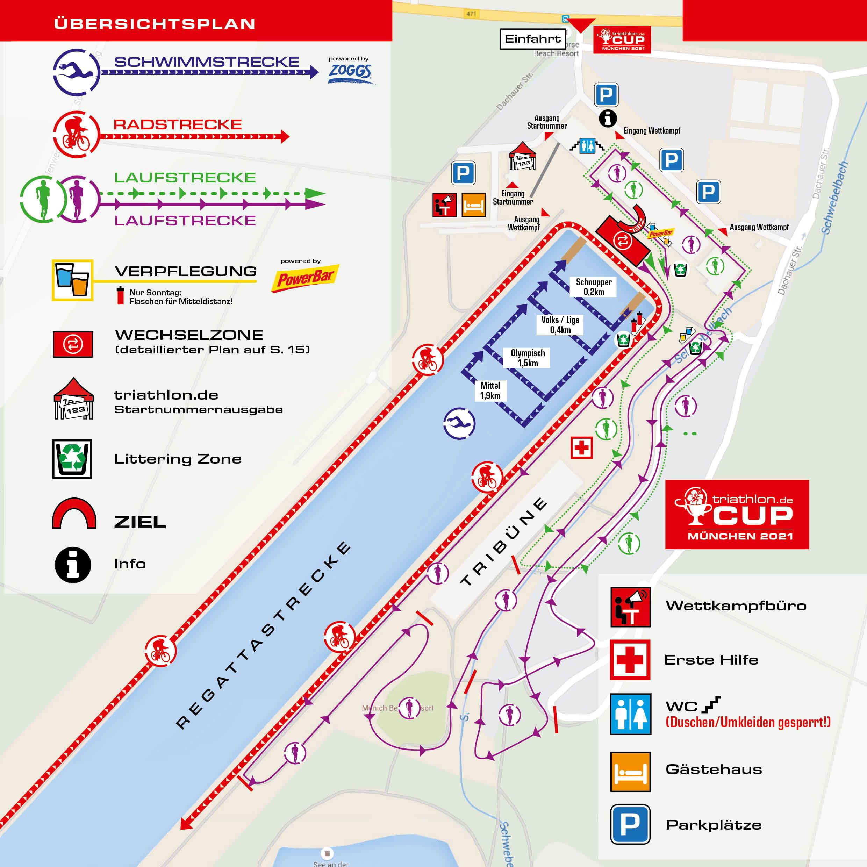 Streckenplan triathlon.de CUP München