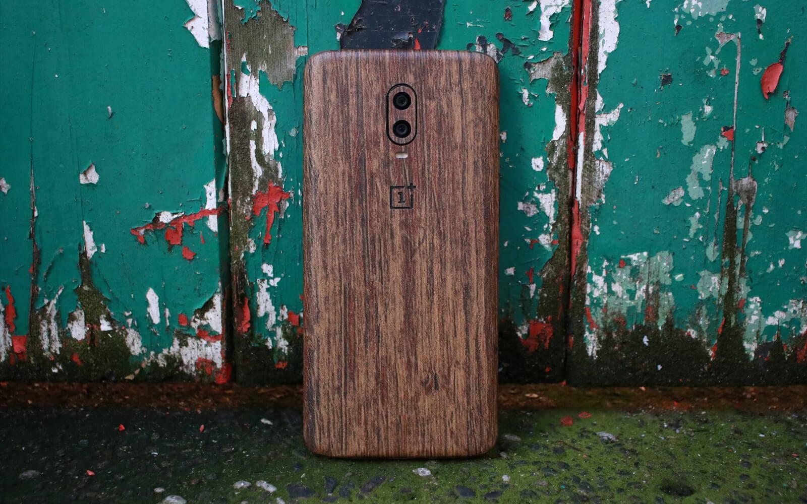 OnePlus 6T Aged Oak Skins