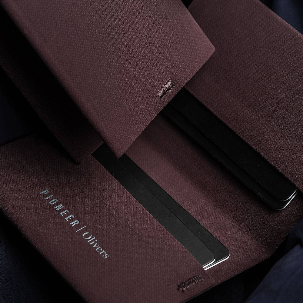 Dark Maroon Wallet Closeup