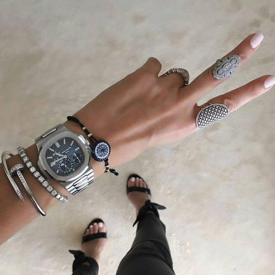 Lush Horology Watch with Bracelets and Rings
