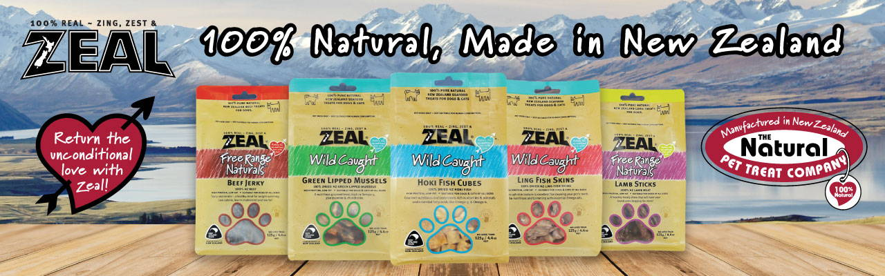 zeal natural pet food and treats banner