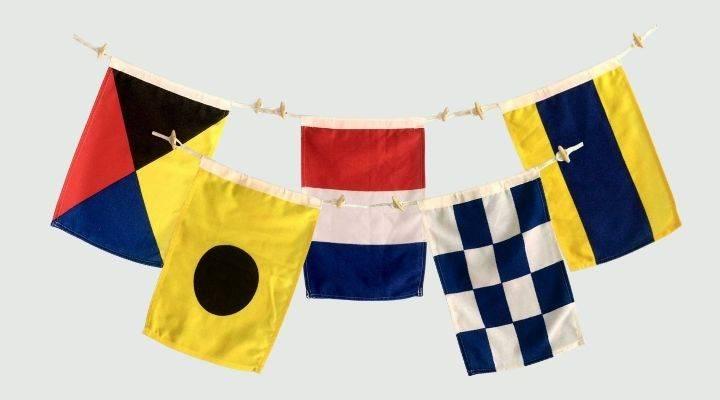 Nautical Signal Flags, Maritime Flags, Nautical Decor