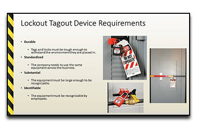 Lockout Tagout Device Requirements PowerPoint Slide