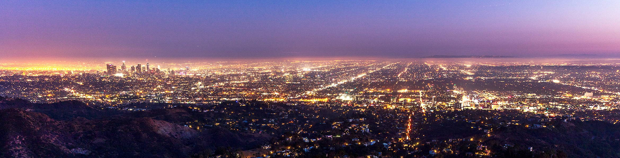 Night view of Los Angeles
