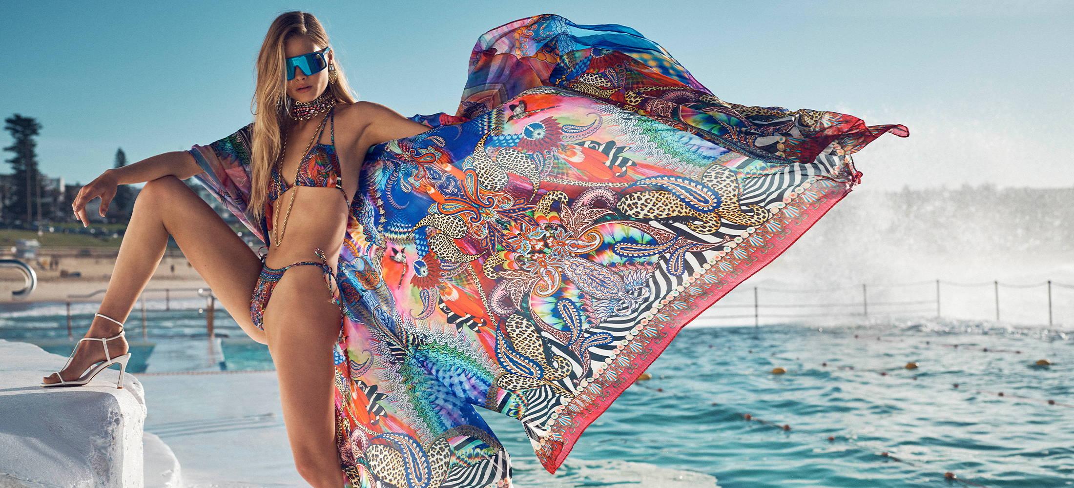 camilla swimwear, camilla psychedelica bikini