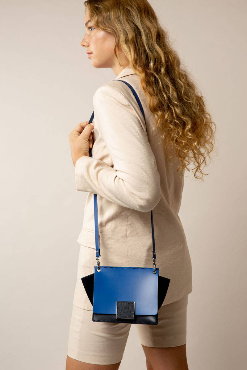 Hill and Friends Riley Bag in Royal Blue and Navy