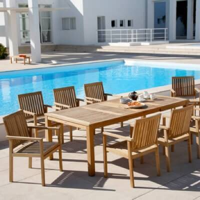 Outdoor Dining Furniture Including Extendable Tables