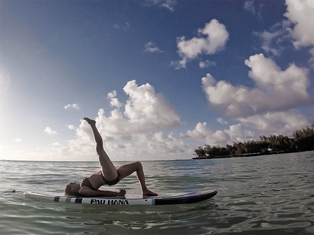 The Moonmist surfing yogi board by Pau Hana