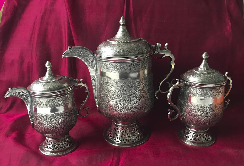Fine Silver Tea Service Kashmir