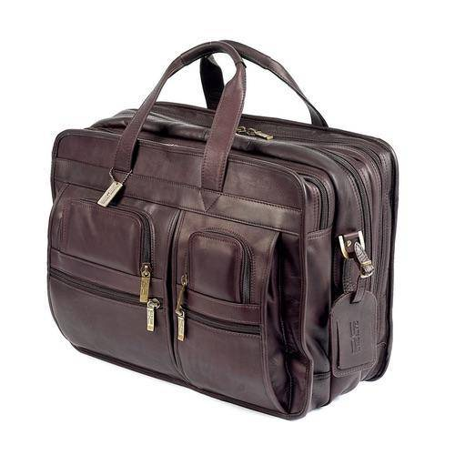 The Jumbo | Extra Large Leather Briefcase for Men for 17 Inch Laptops