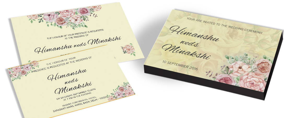 Elegant Floral Theme Marriage Invites