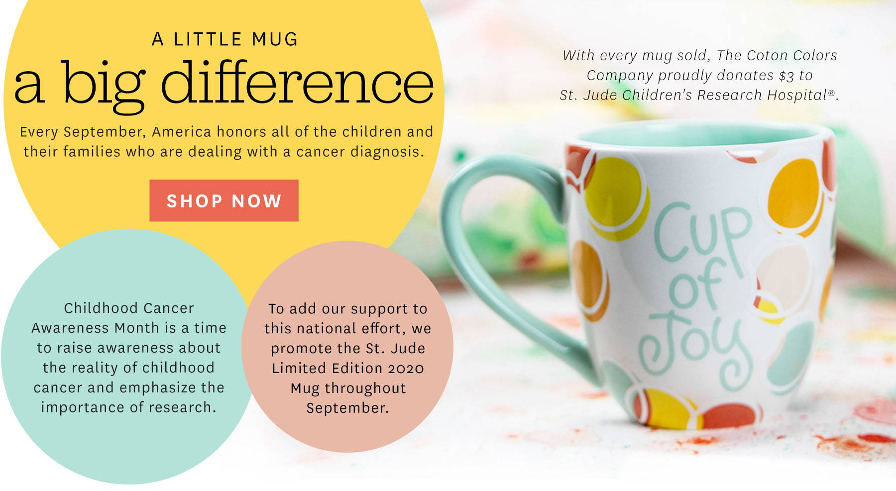 A little mug a big difference. Shop Now.