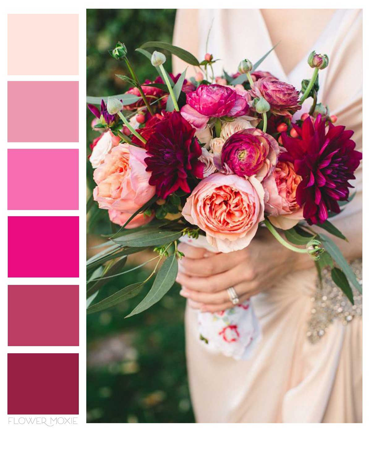 pinks and berries wedding flower packages