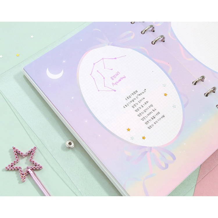 Color note - Twinkle moonlight A5 6-ring dateless weekly diary planner