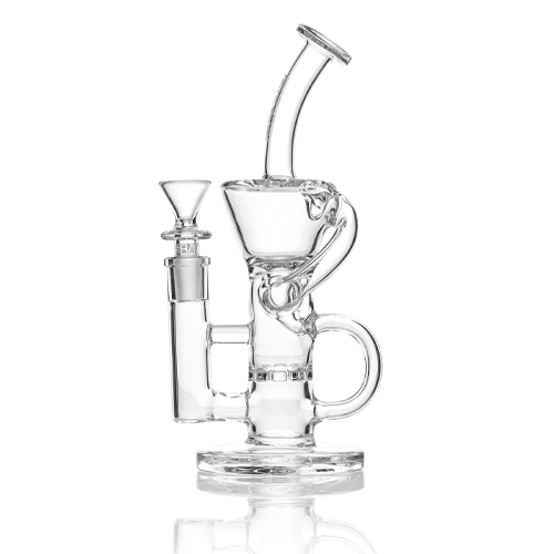 Recycler Dab rigs are more complicated than your standard glass rig.  They feature intricate chambers and tubes that recycle the water and vapor back into the percolator to create a continuous loop of filtration.  At Samurai Blaze we carry a large selection recycler Dab Rigs.
