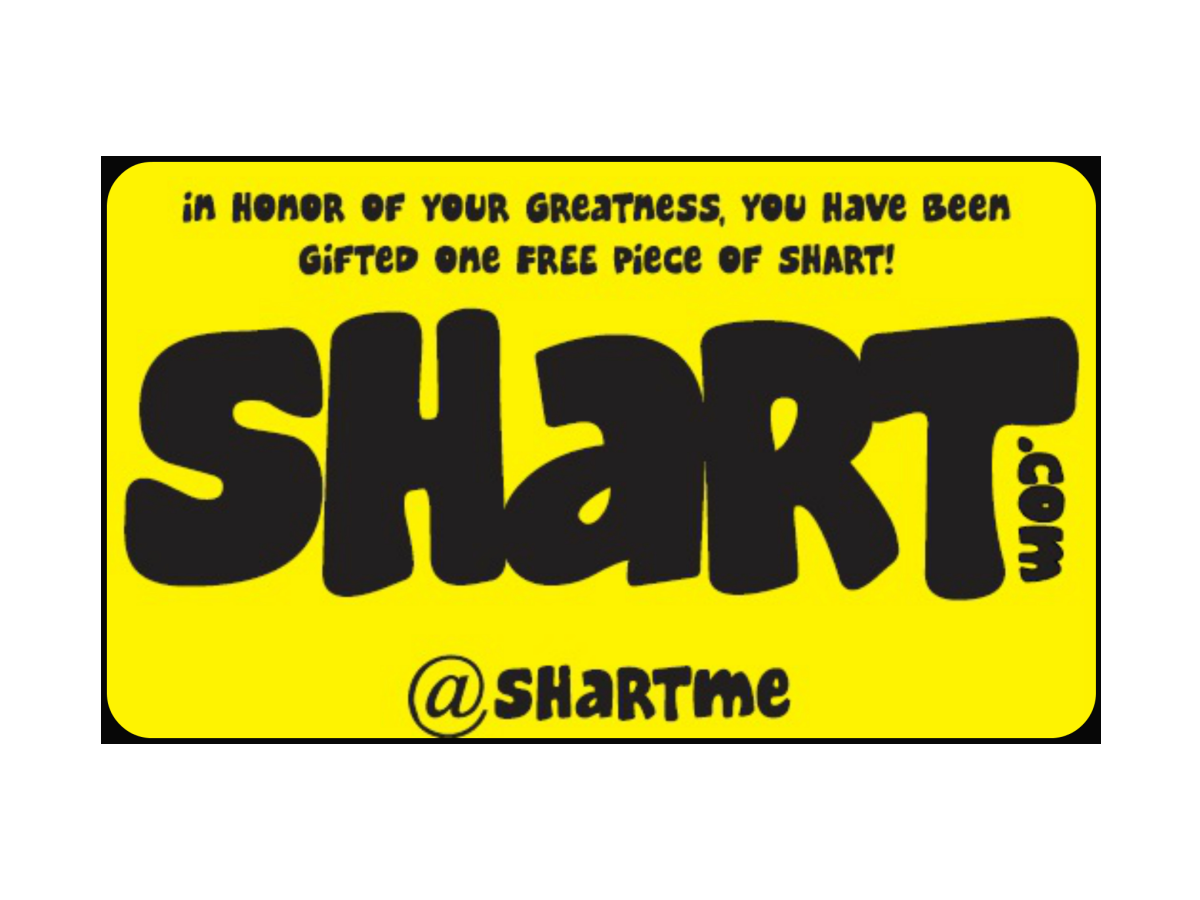 Shart.com Gift Card for a Shart Original T-Shirt Frame