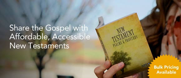 Share the gospel with affordable accessible new testaments