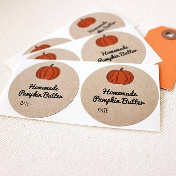 pumpkin butter labels
