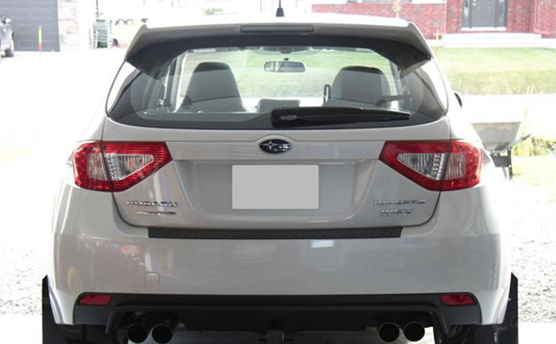 Subaru WRX with Red Lamin-x tail light film covers