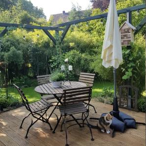 Baser Sonnenschirmständer Sonnenschirm Sandsäcke Garten Terrasse Möbel Idylle Katze