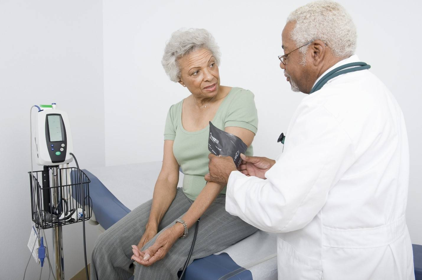 Senior doctor checkups