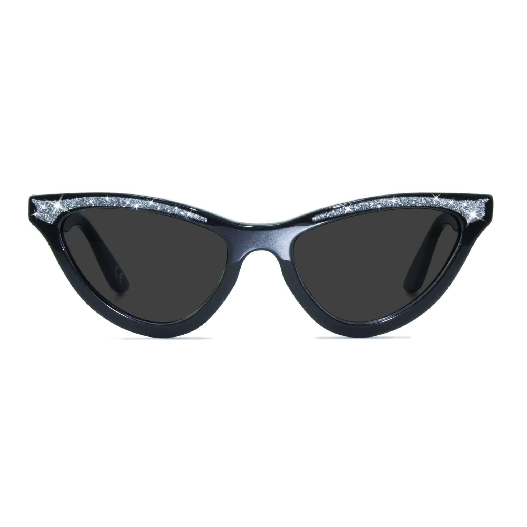 Joiuss maryloo black cat eye sunglasses
