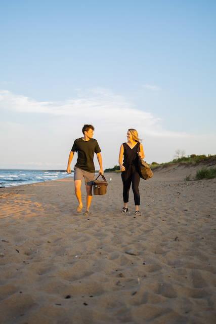 Couple on Park Point Beach