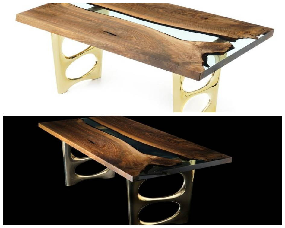 Naturalist Altin 200 Resin River Dining Table