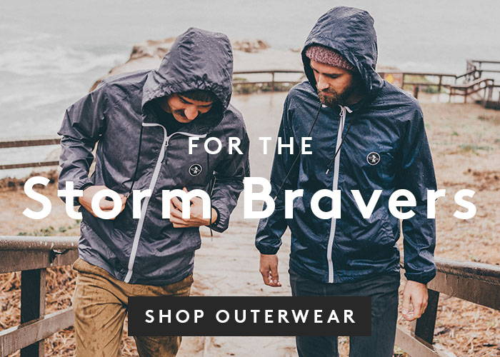For the Storm Bravers. Shop Outerwear.