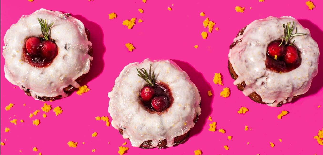 vegan cranberry orange split bakehouse mini bundt cake