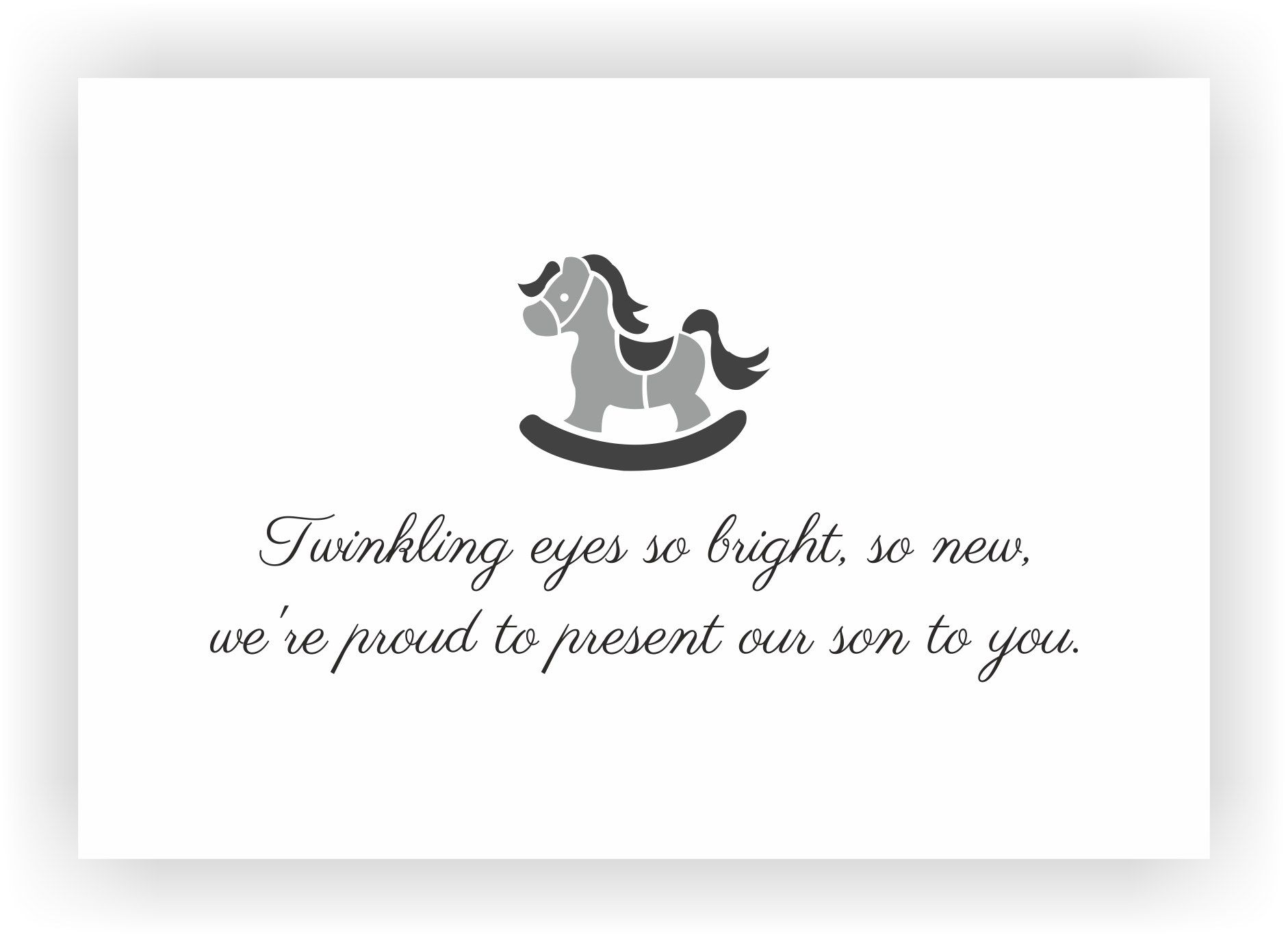 baby boy announcement message - 24