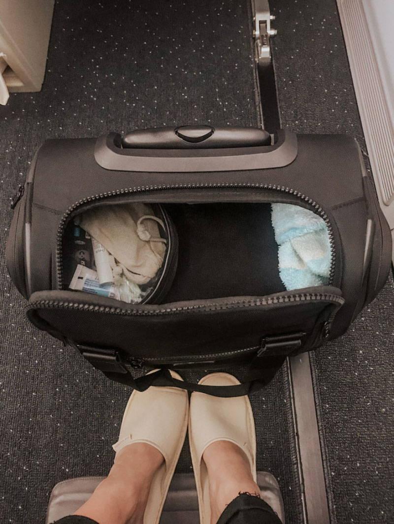 CALPAK Murphie Underseat Carry-On in black.