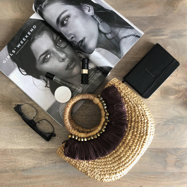Boho Basket Bag with Fringe Detailing