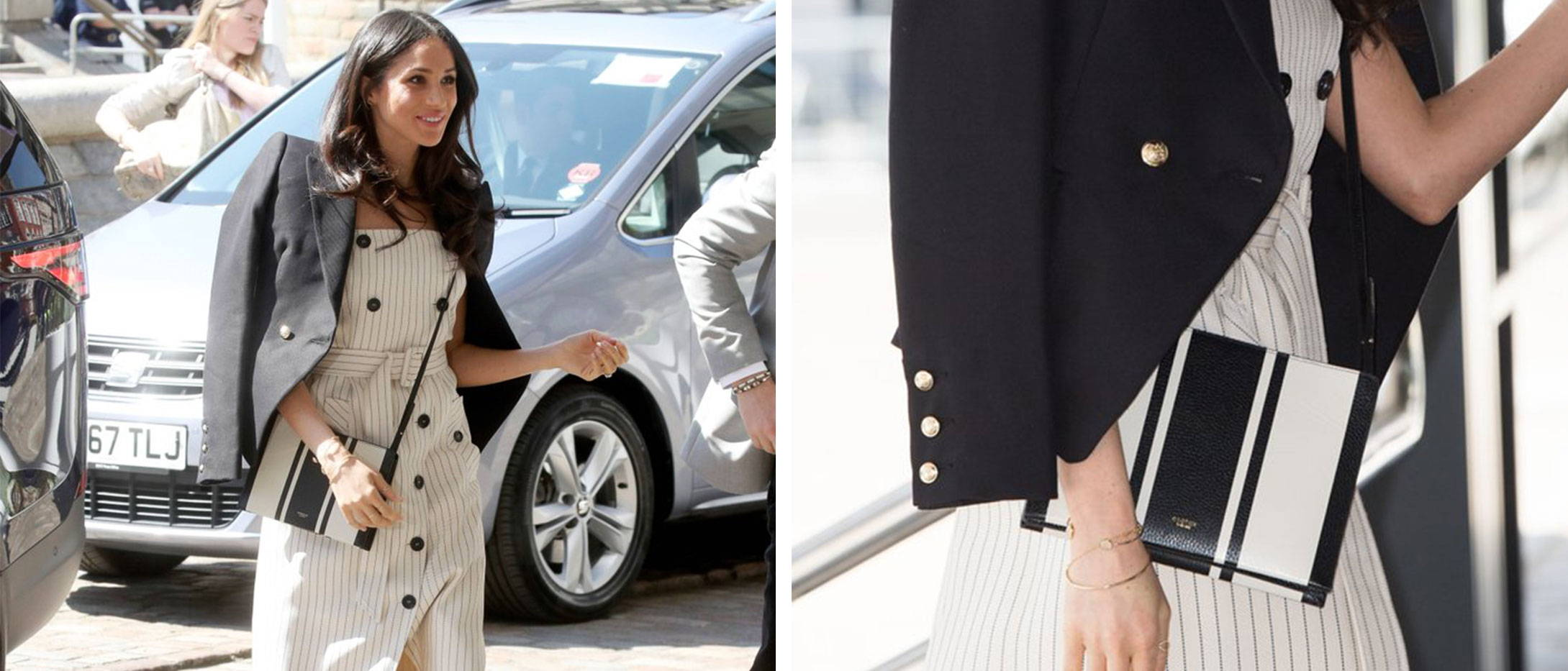 Meghan Markle wearing Oroton Designer Bag