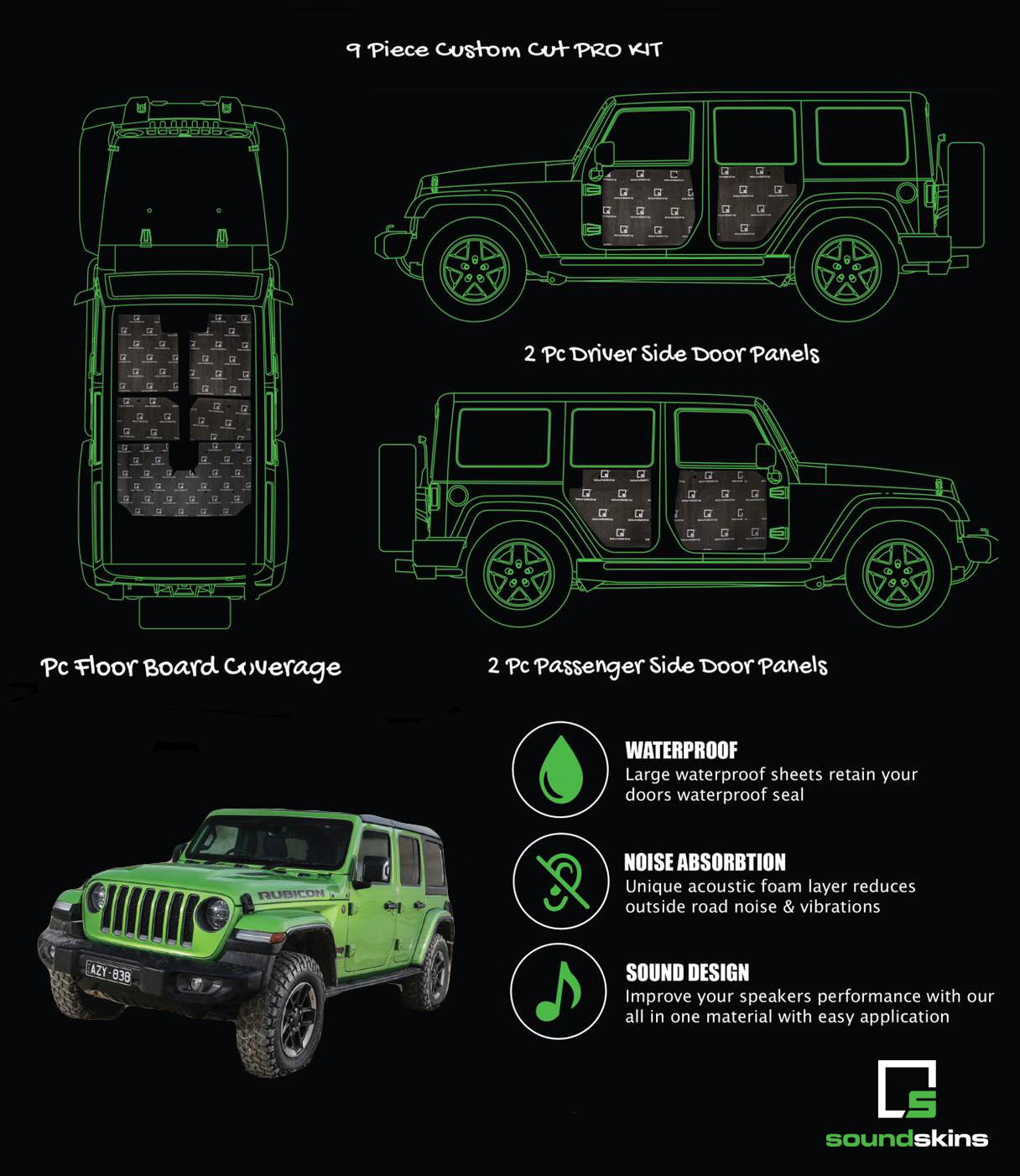 SoundSkins Pro Jeep Wrangler Kit