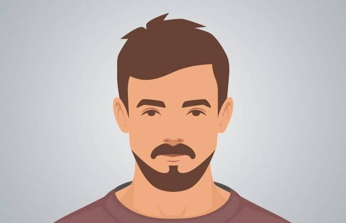 Neatly trimmed beard design