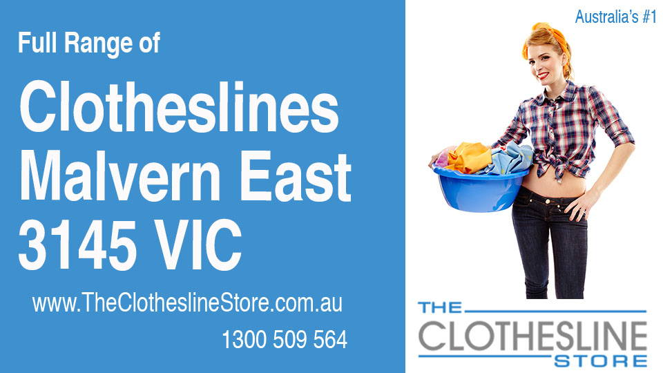New Clotheslines in Malvern East Victoria 3145