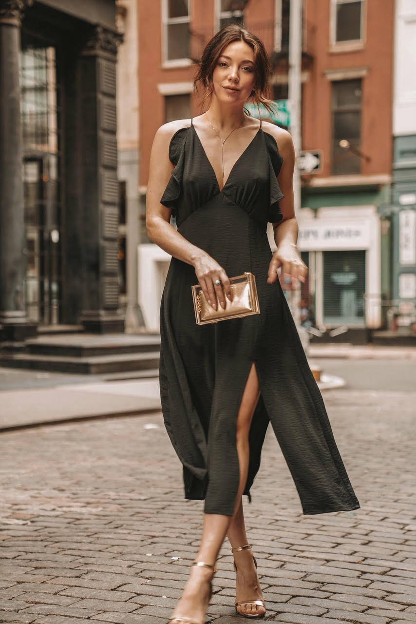 9a04f0e13dd ... little black dress for a spring night out in the city. She chatted to  us about where she finds her inspiration