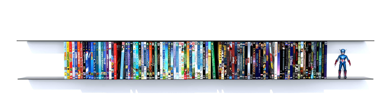 étagère DVD 1,80 m RAL 9005 noir