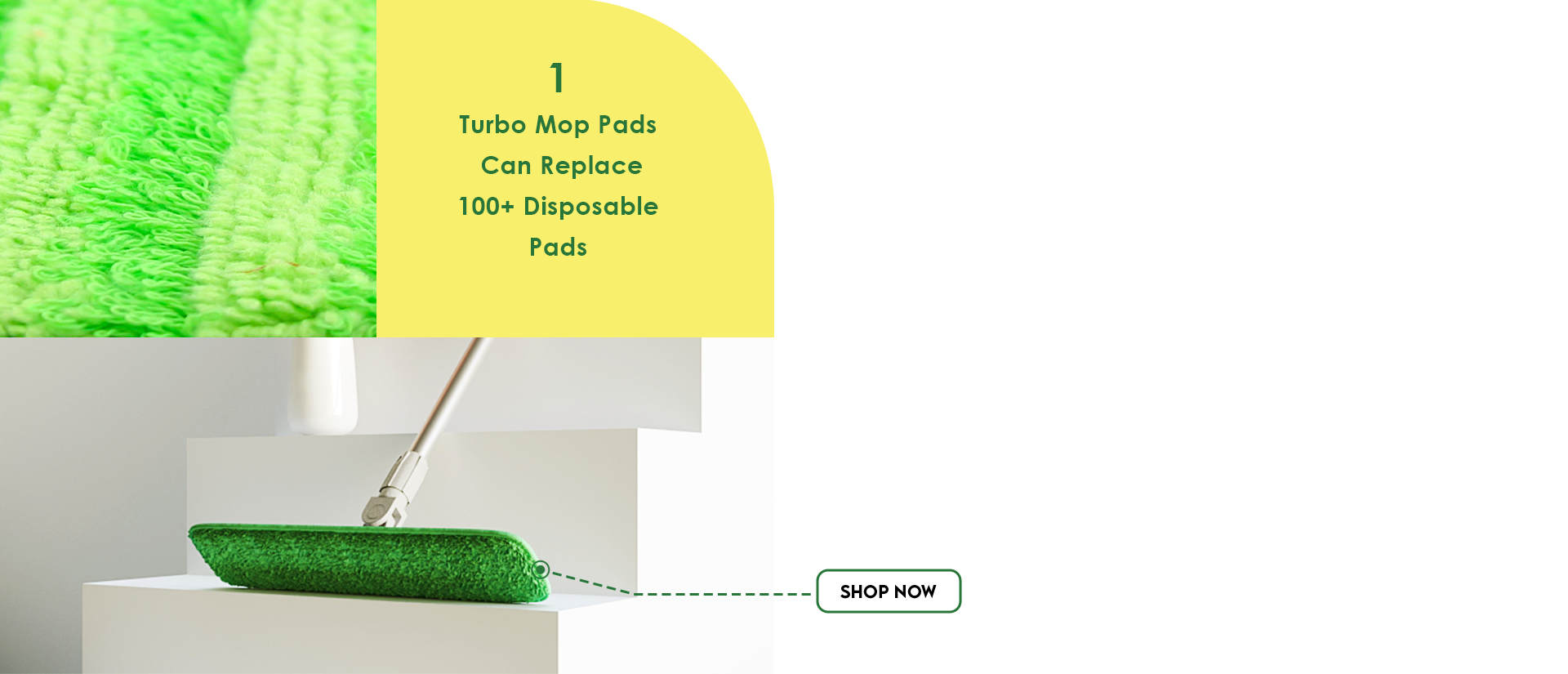 Turbo mop with washable pads are thick & highly absorbent