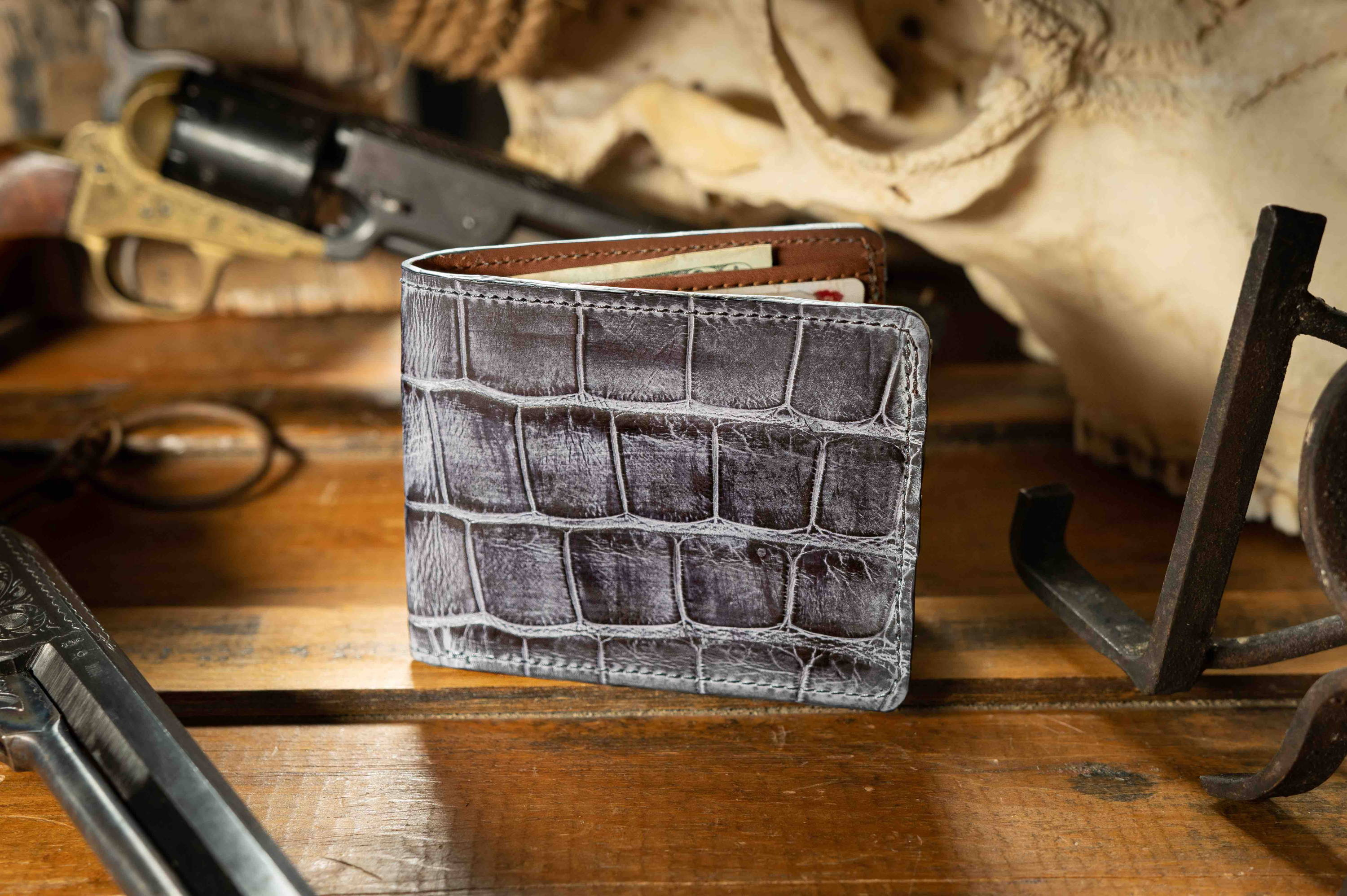 custom alligator wallet