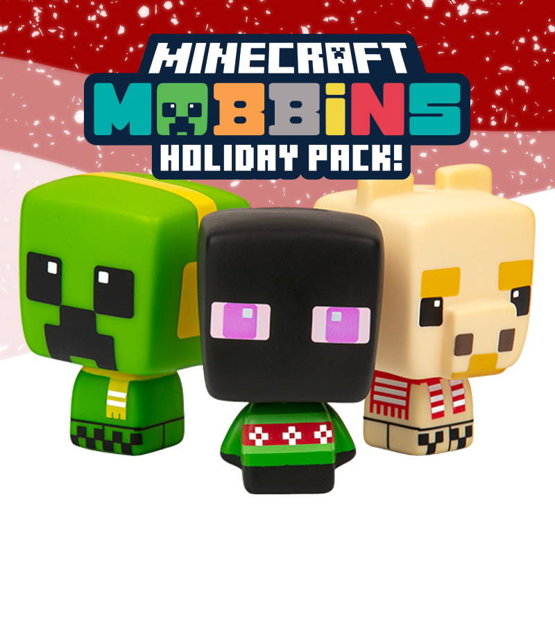 Minecraft Mobbins Holiday 3-Pack